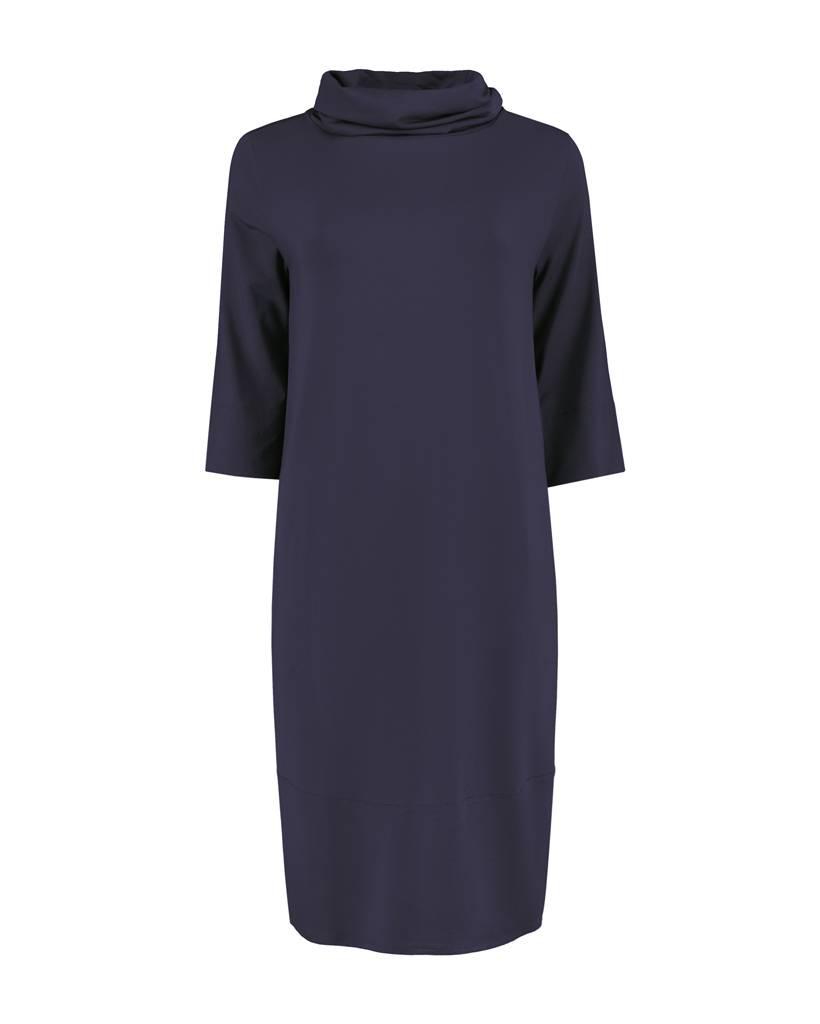 SYLVER Lyocell Dress - Donkerblauw