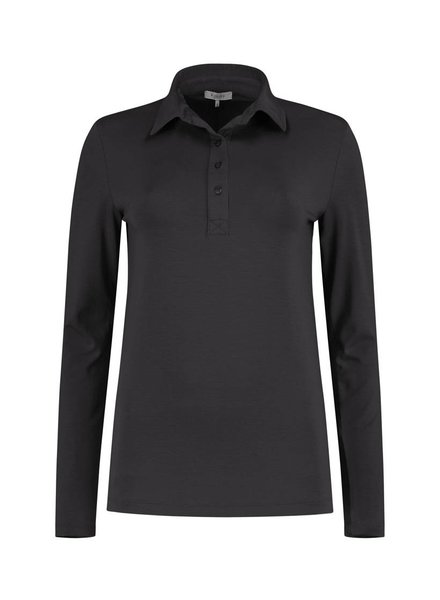 SYLVER Lyocell Shirt collar - Charcoal
