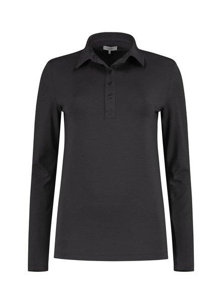 SYLVER Lyocell Shirt collar - Donkergrijs