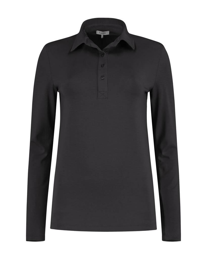 SYLVER Lyocell Shirt collar - Charcoal