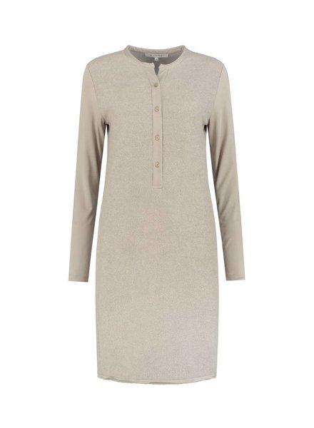 SYLVER Brushed Jersey Dress - Zand