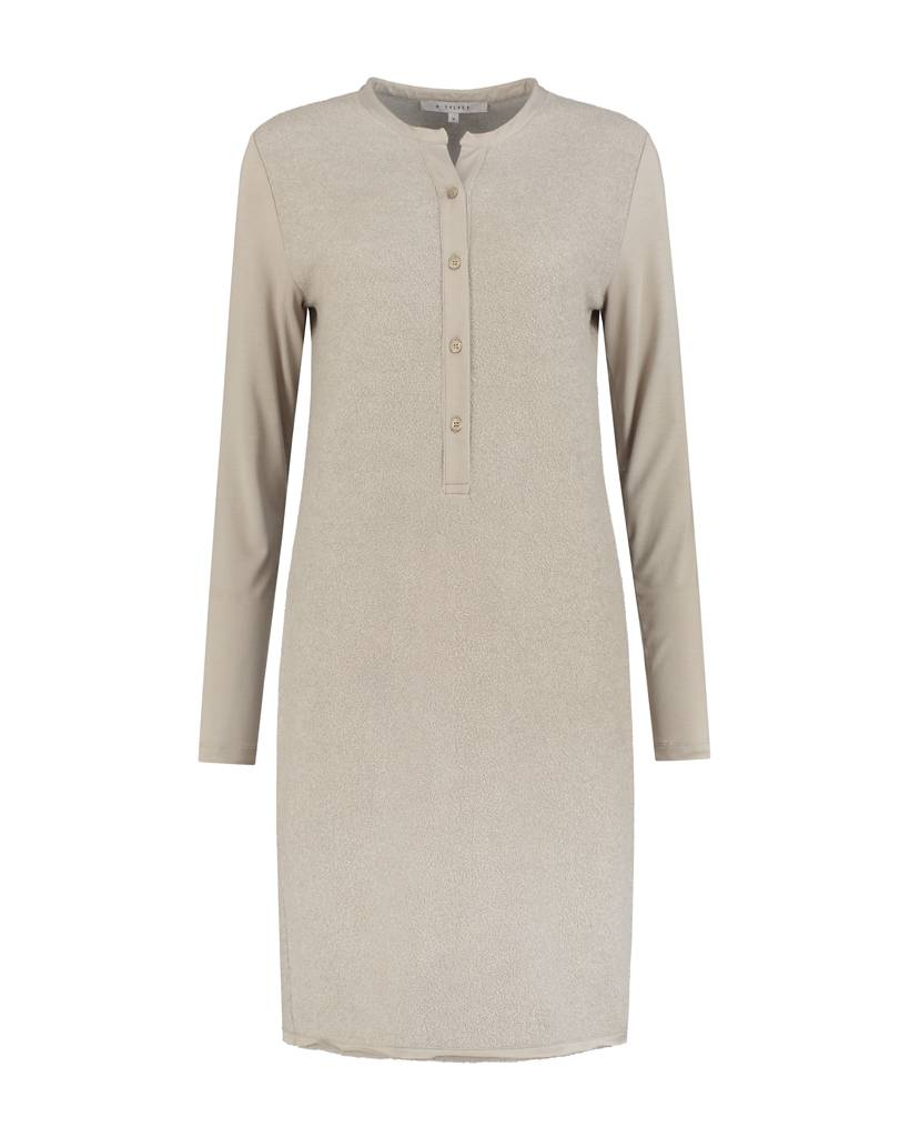 SYLVER Brushed Jersey Dress - Taupe