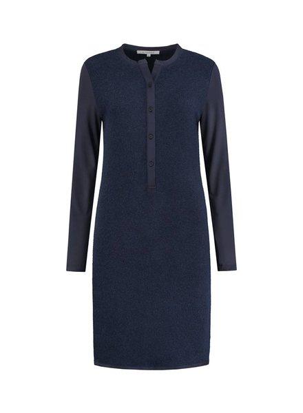 SYLVER Brushed Jersey Dress - Donkerblauw