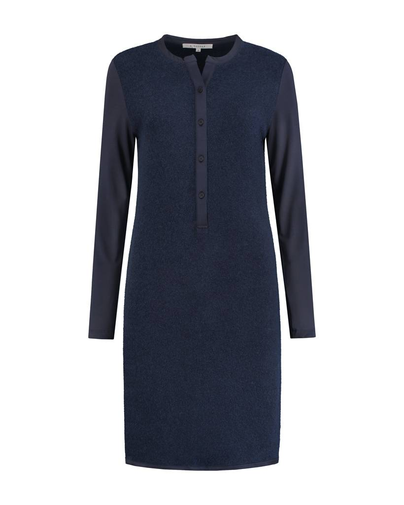 SYLVER Brushed Jersey Dress - Indigo