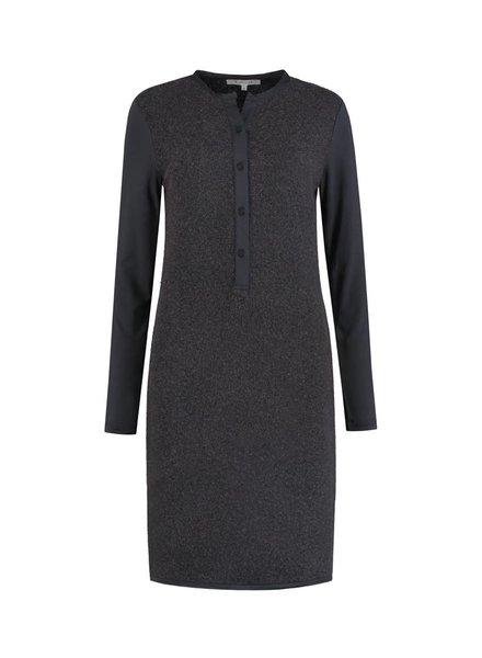 SYLVER Brushed Jersey Dress - Donkergrijs