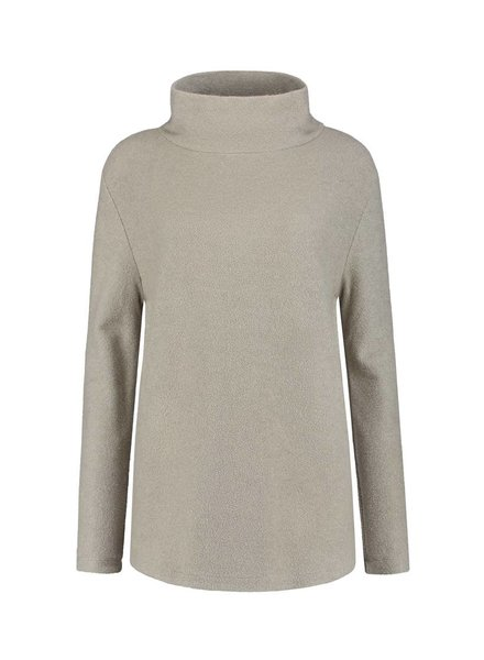 SYLVER Brushed Jersey Shirt turtle neck - Zand