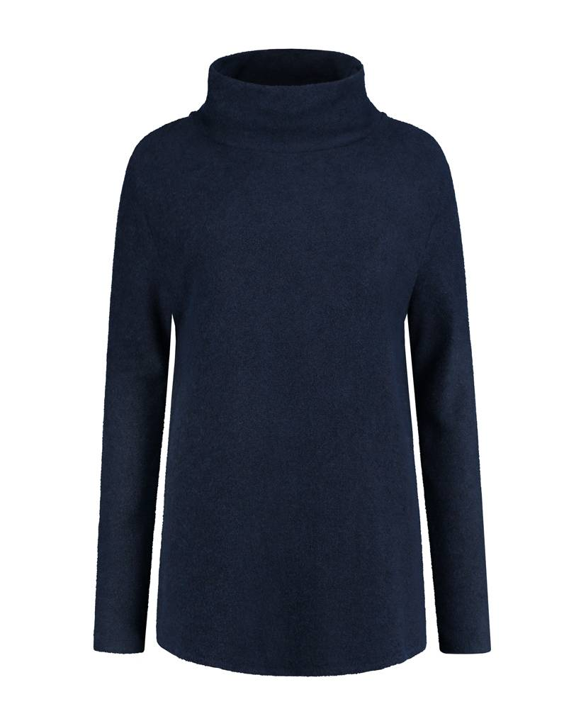 SYLVER Brushed Jersey Shirt turtle neck - Donkerblauw