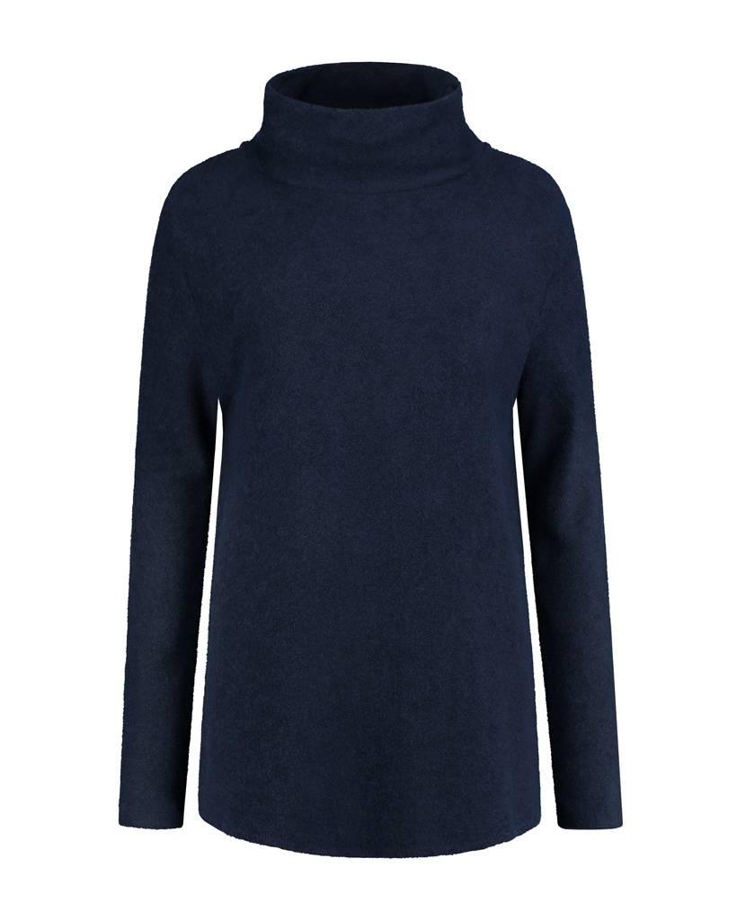 SYLVER Brushed Jersey Shirt turtle neck - Indigo