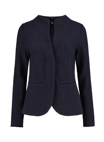 SYLVER Boiled Wool Blazer - Donkerblauw