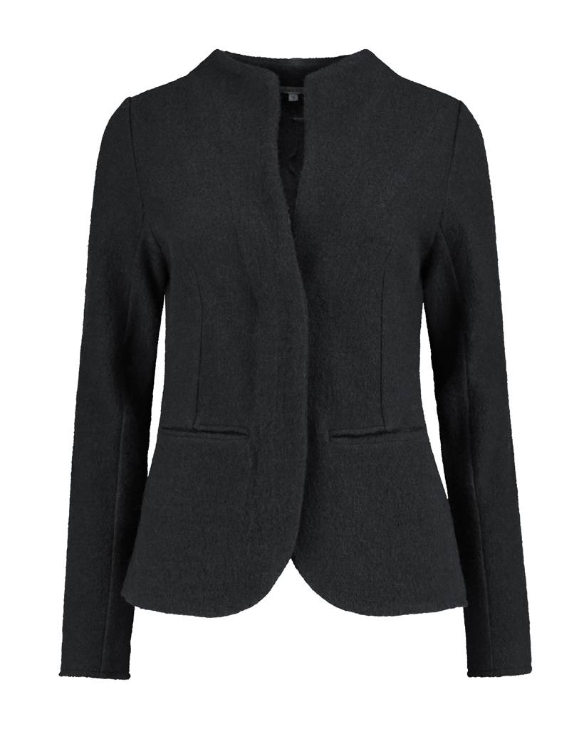 SYLVER Boiled Wool Blazer - Donkergrijs