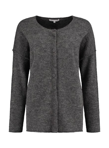 SYLVER Top Line Cardigan short - Charcoal