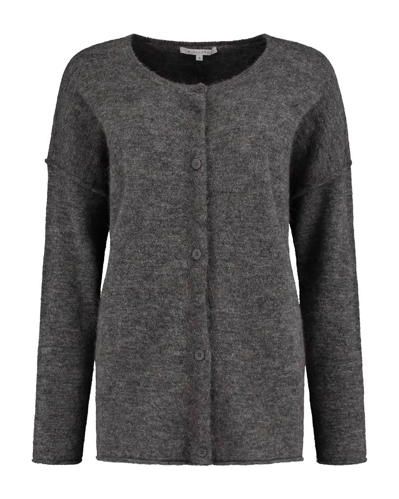 SYLVER Top Line Cardigan short - Charcoal