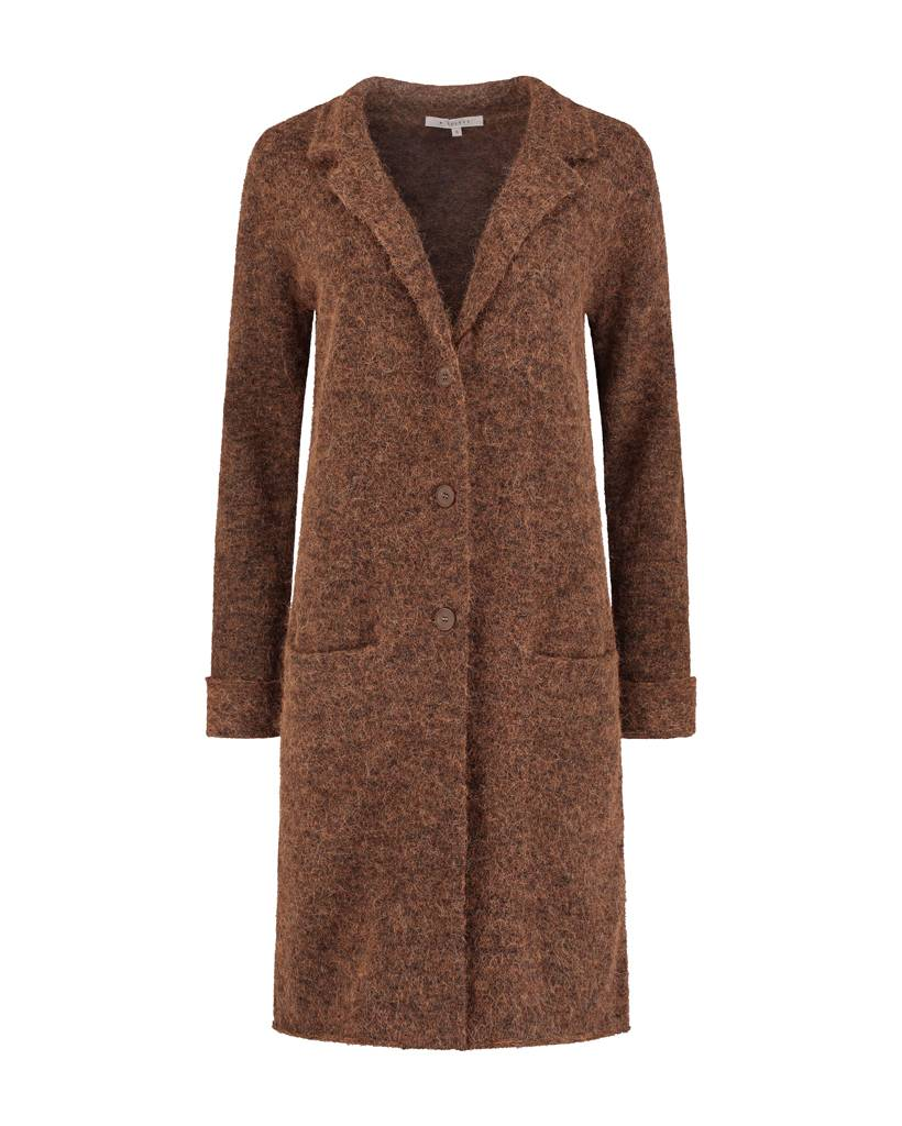 SYLVER Top Line Blazer knitted - Kandij Bruin