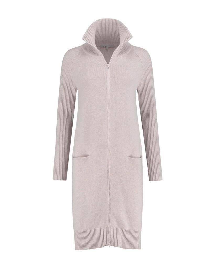 SYLVER Superb Cardigan zipper - Grey Pink