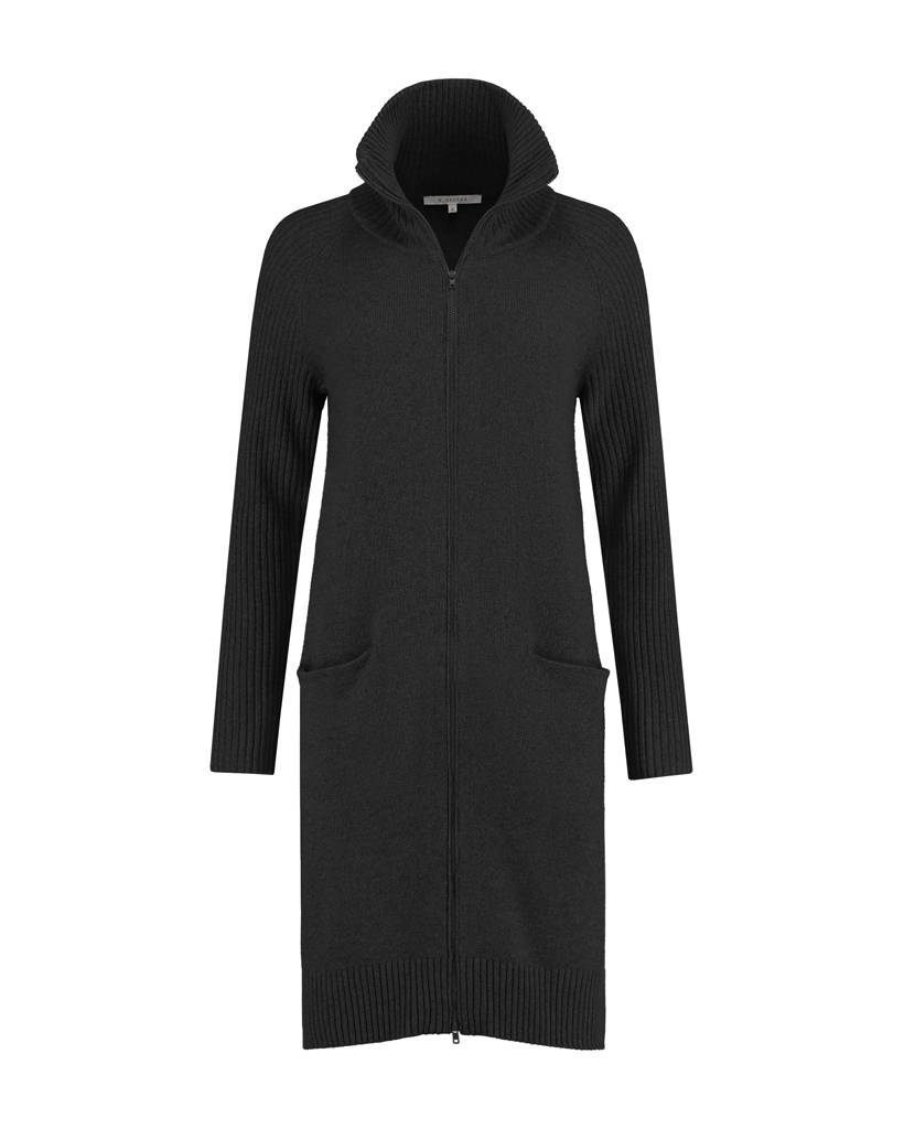SYLVER Superb Cardigan zipper - Black