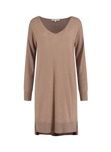 SYLVER Fine Knit Tunic - Brown Sugar