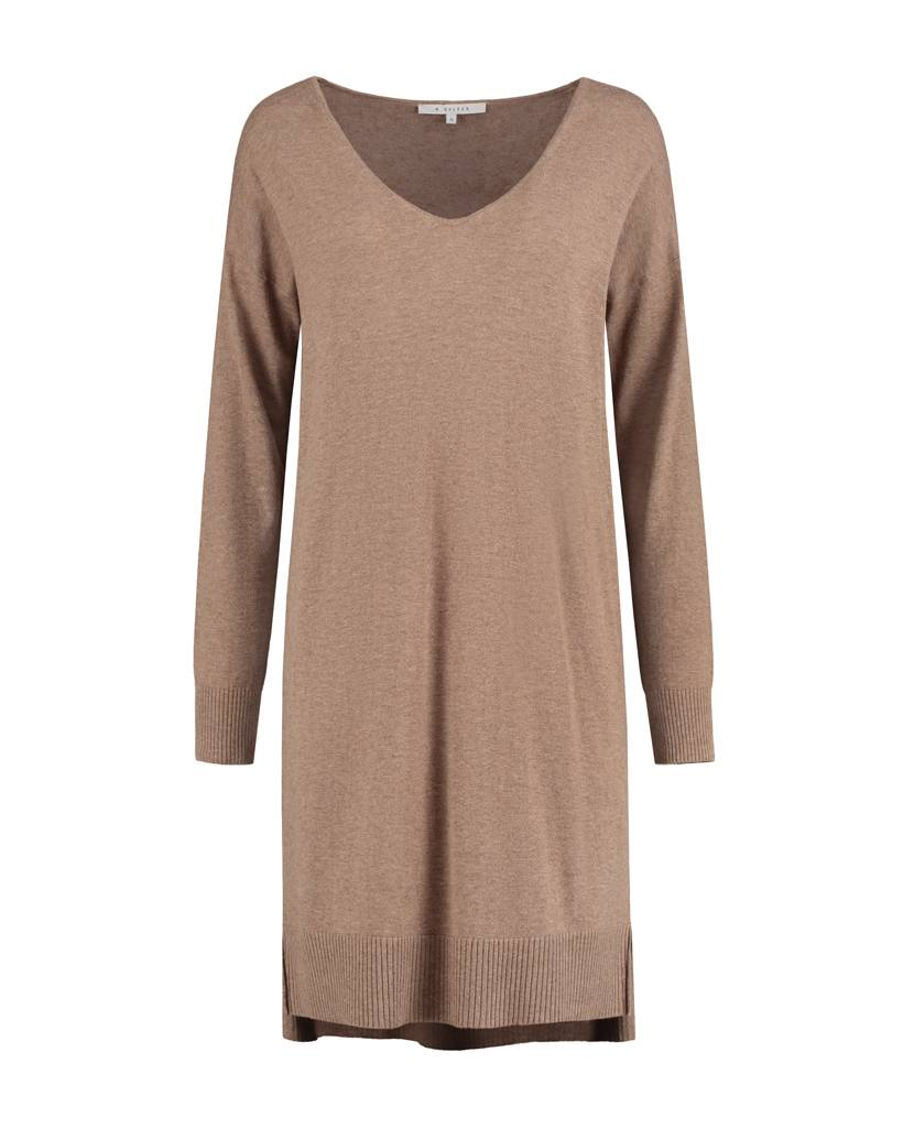SYLVER Fine Knit Tunic - Kandij Bruin
