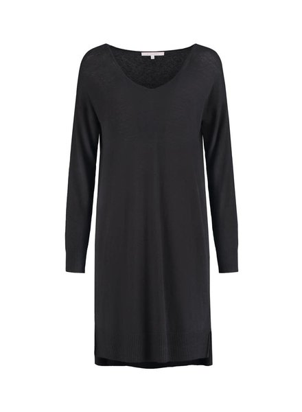 SYLVER Fine Knit Tunic - Donkergrijs