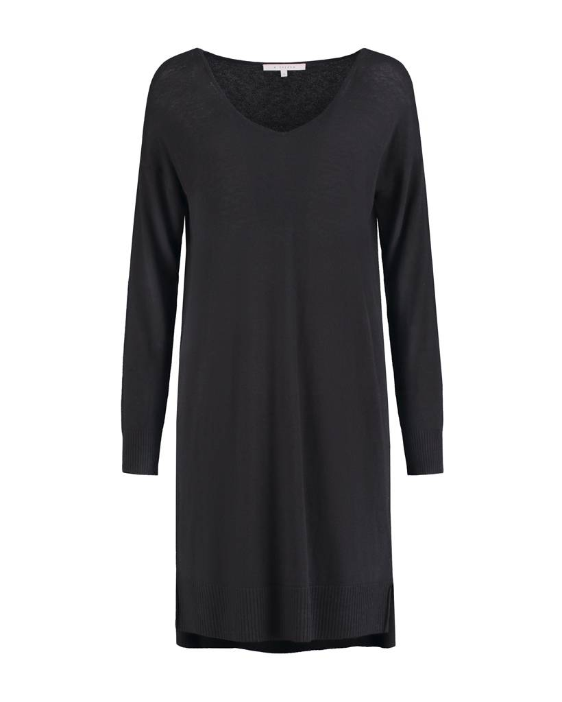 SYLVER Fine Knit Tunic - Charcoal