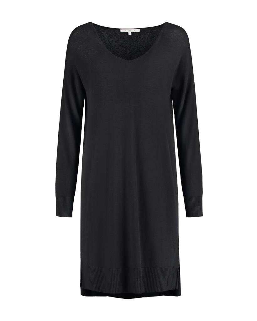SYLVER Fine Knit Tunic - Zwart