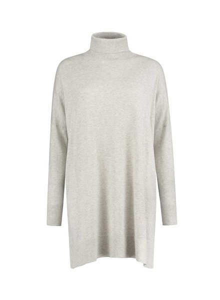 SYLVER Fine Knit Pull long - Silver