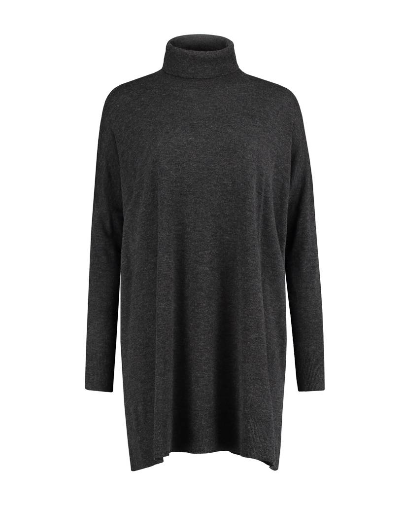 SYLVER Fine Knit Pull long - Charcoal