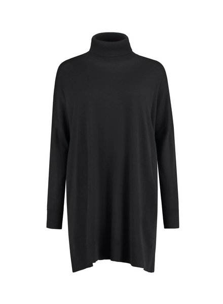 SYLVER Fine Knit Pull long - Black