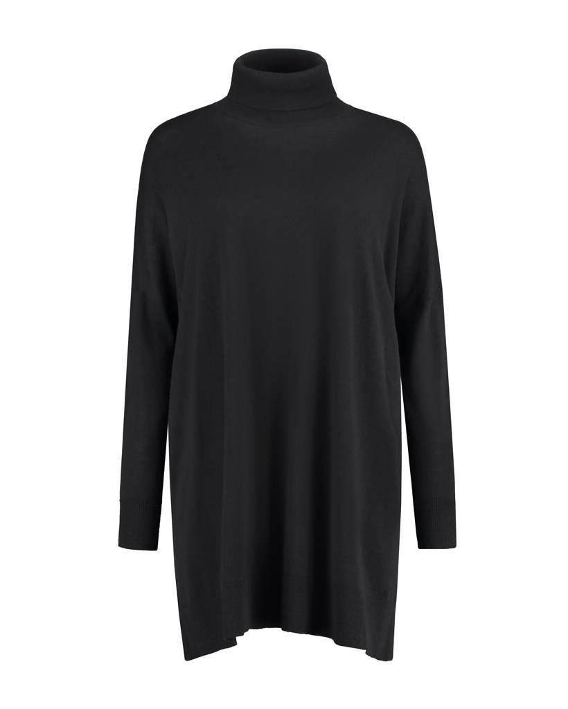SYLVER Fine Knit Pull long - Black