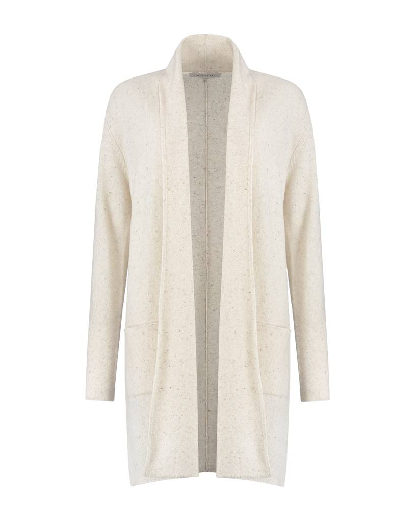 SYLVER Donegal Cardigan - Wool White