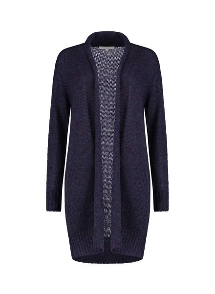 SYLVER Woolmix Cardigan - Donkerblauw