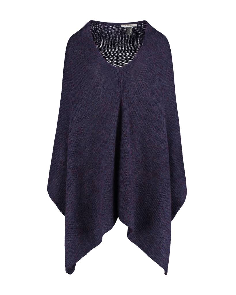 SYLVER Woolmix Shawl - Donkerblauw