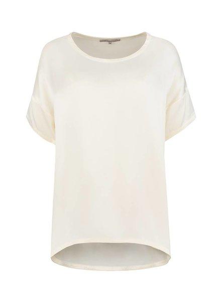SYLVER Washed Silk Shirt - Wool White
