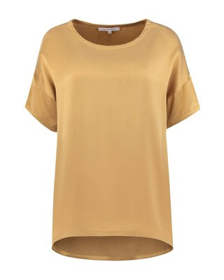 SYLVER Washed Silk Shirt - Dark Gold