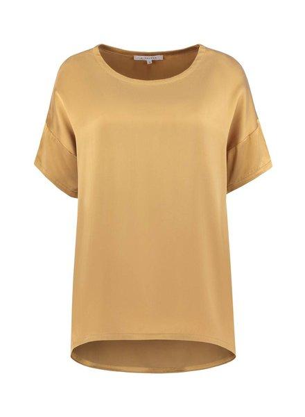 SYLVER Washed Silk Shirt - Donker Goud