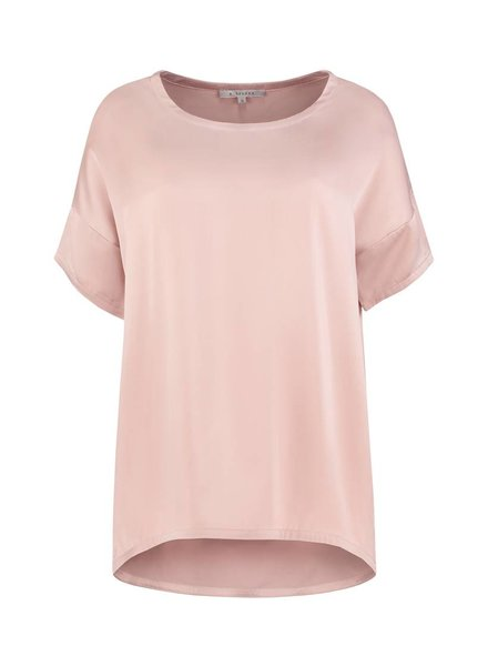 SYLVER Washed Silk Shirt - Pink
