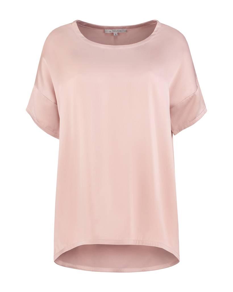 SYLVER Washed Silk Shirt - Roze