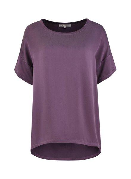 SYLVER Washed Silk Shirt - Paars