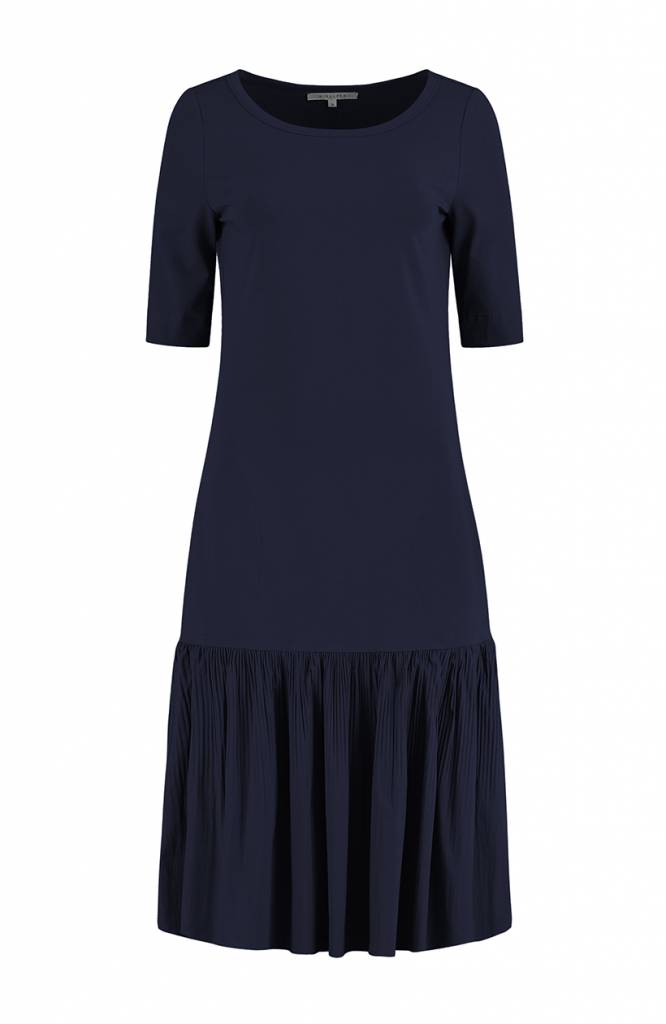SYLVER Plissé Dress - Indigo