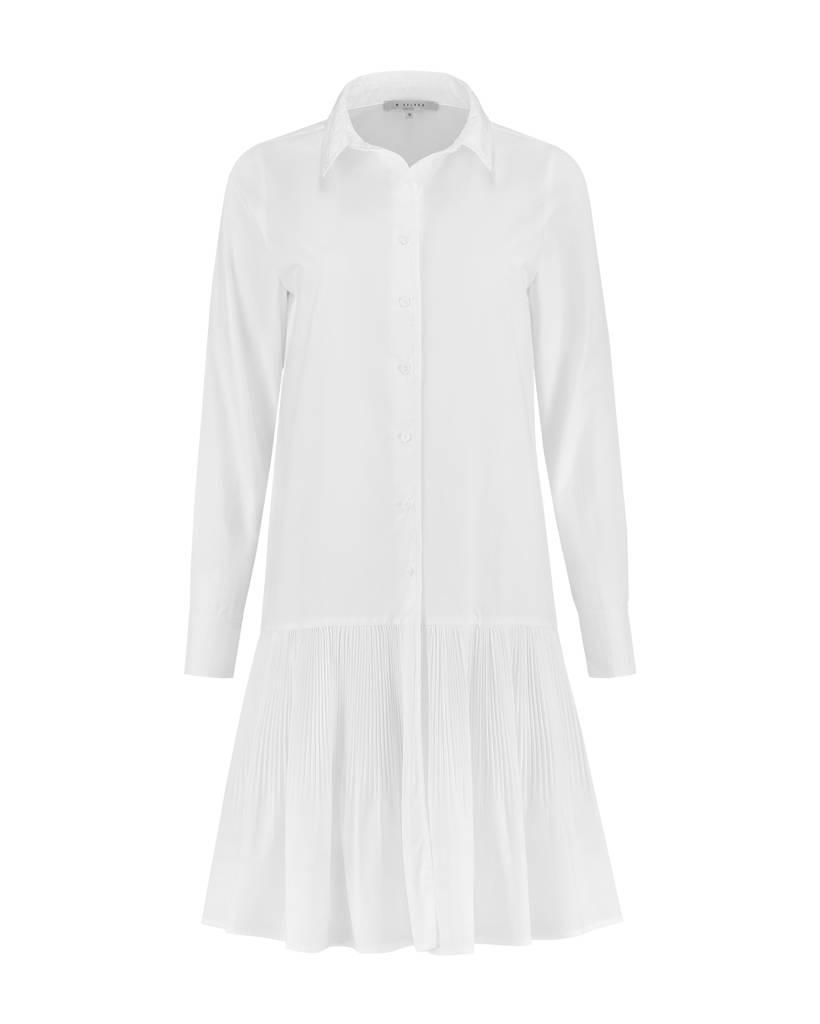 SYLVER Plissé Blouse - Wool White