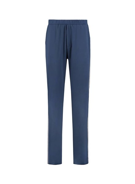 SYLVER Silky Jersey Trousers Coloured Tape - Denim