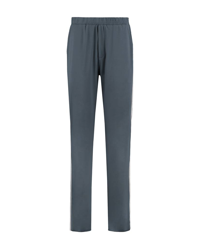 SYLVER Silky Jersey Trousers Coloured Tape - Graphite