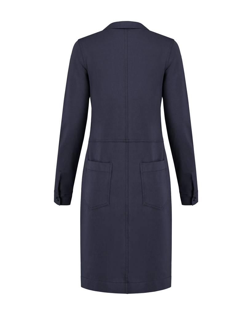 SYLVER Sweat Dress - Donkerblauw