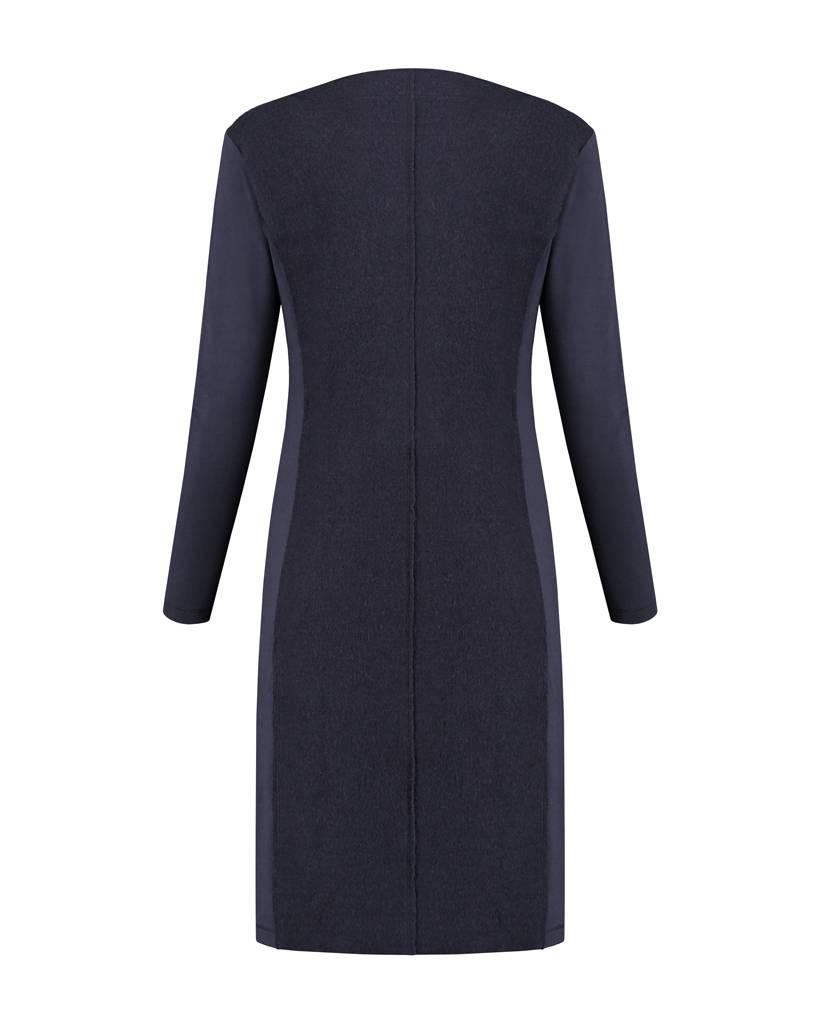 SYLVER Boiled Wool Dress - Indigo