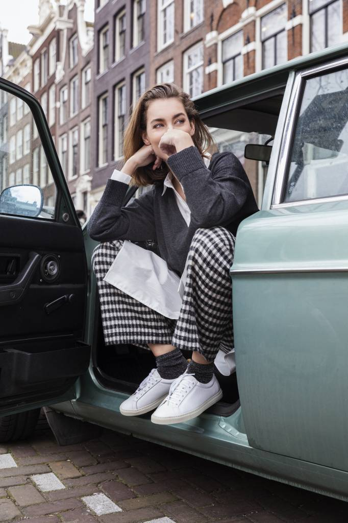 SYLVER Plissé Blouse - Wool Wit