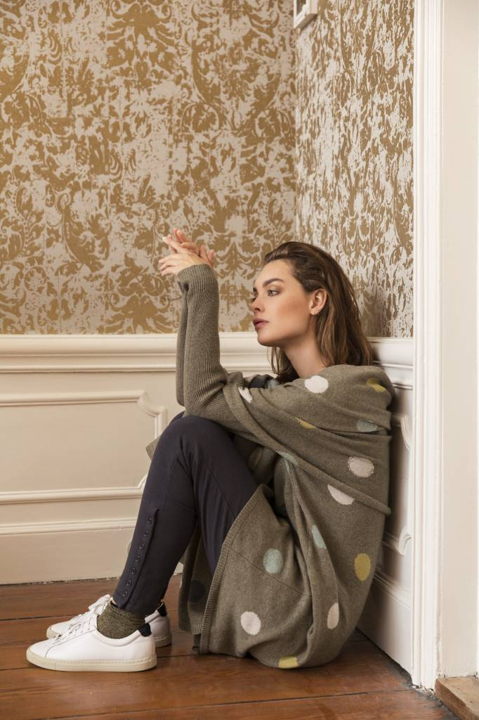 SYLVER Superb Pull long dot - Taupe