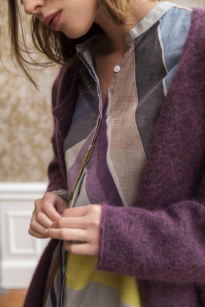 SYLVER Top Line Cardigan short - Viola