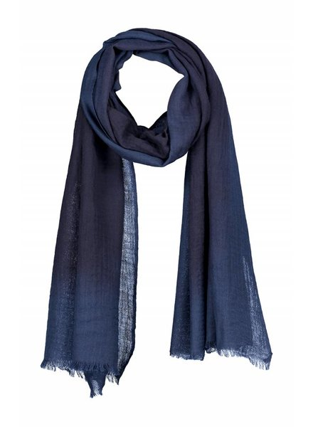 SYLVER Shawl Dip Dye - Donkerblauw