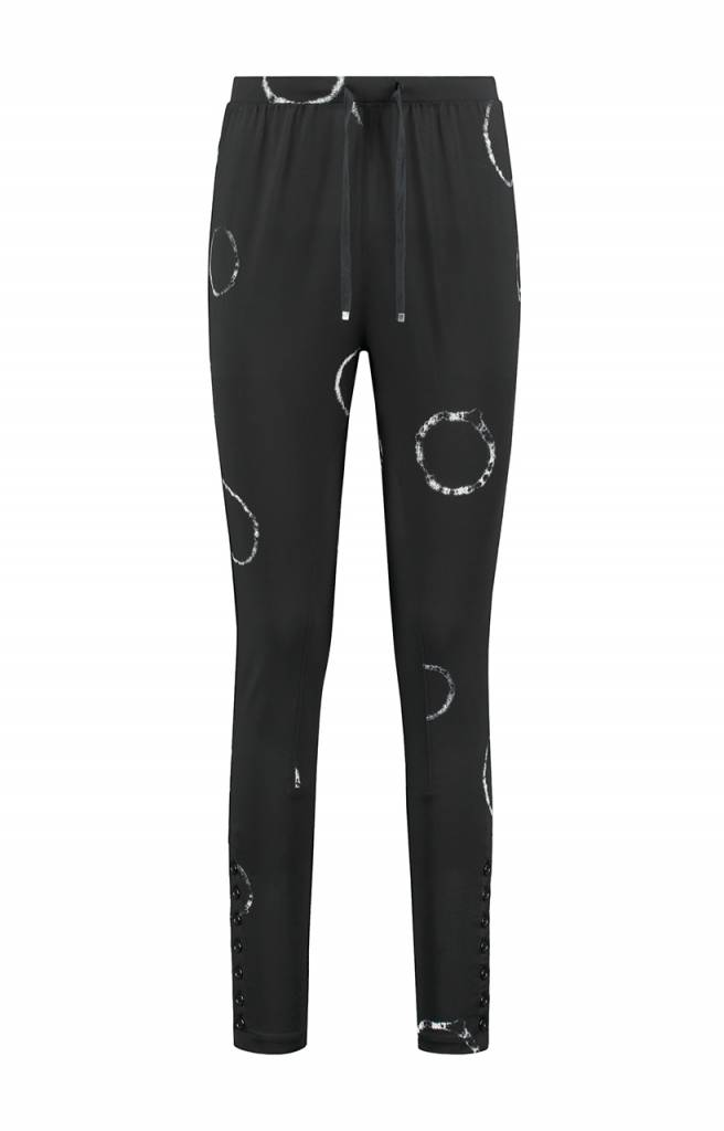 SYLVER Tye and Dye Trousers fancy - Charcoal