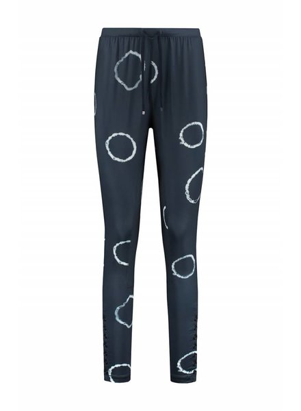 SYLVER Tye and Dye Trousers fancy - Donkerblauw