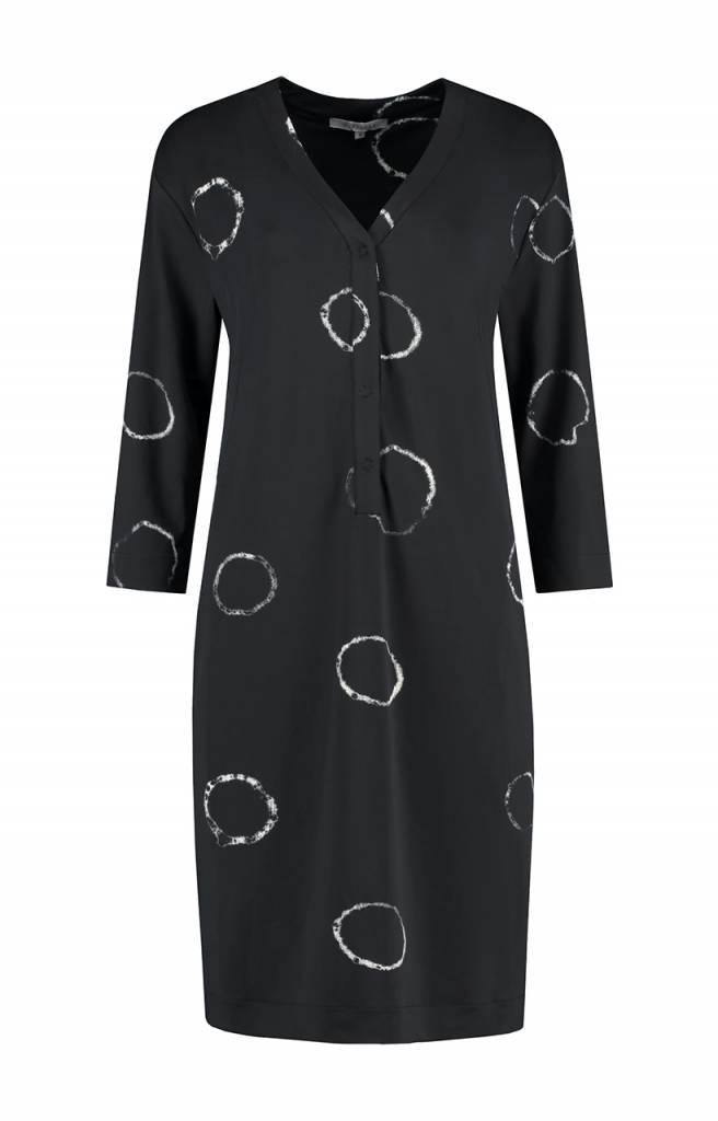 SYLVER Tye and Dye Dress - Charcoal